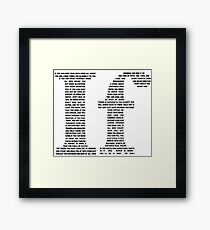 If poem | Black Framed Print