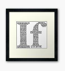 If poem | Black Framed Print