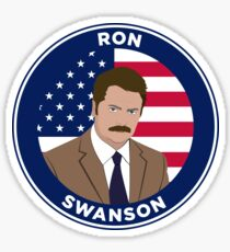 Ron Swanson - Parks and Rec Sticker