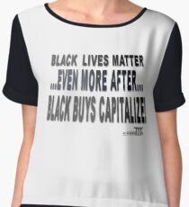 Positive Pro-BLACK: CAPITALIZE 1 Women's Chiffon Top