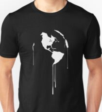 Splatter Earth 1 (white) Unisex T-Shirt