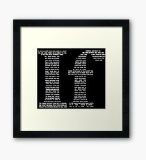 If poem | White Framed Print