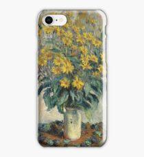 Flowers -Claude Monet - Jerusalem Artichoke Flowers 1880 Impressionism iPhone Case/Skin