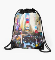 Times Square Drawstring Bag