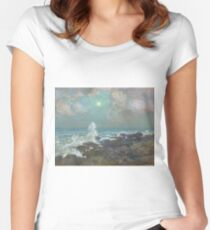 Vintage famous art - Childe Hassam - Seascape-Isle Of Shoals Women's Fitted Scoop T-Shirt
