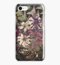Vintage blue art - Charles Rennie Mackintosh  - Petunias iPhone Case/Skin