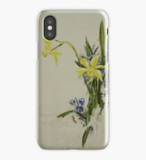 Vintage blue art - Charles Demuth - Jonquils iPhone Case/Skin