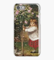 Vintage famous art - James Hayllar - The Rose Tree iPhone Case/Skin