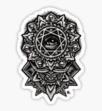 Eye of God Flower Mandala Sticker