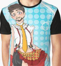 Tony Stark Crossdressing Graphic T-Shirt