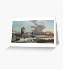 Henry Bright ()  The setting sun Greeting Card