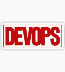 DEVOPS - Marvel style Sticker