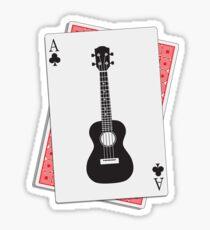 Ukulele Clubs Playing Card Sticker