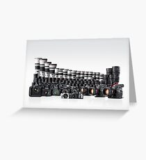 Photo Cameras Greeting Card