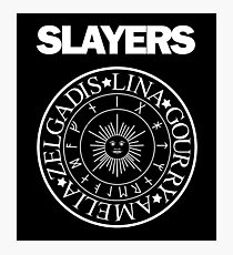 Slayers - Ramones Logo Parody Photographic Print