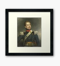 Portrait of Christian Edouard Fraser, Second Lieutenant of the 5th Regiment of the Dragoons, Charles Howard Hodges,  Framed Print