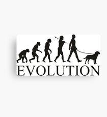 EVOLUTION labrador Canvas Print