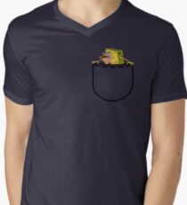 Caveman Spongebob (SpongeGar) Pocket Shirt Men's V-Neck T-Shirt