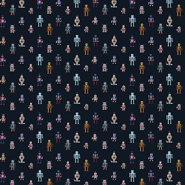 Robot Pattern by NeleVdM