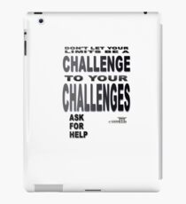 Positive Pro-BLACK: Seek Help When NEEDED. DO IT!! iPad Case/Skin