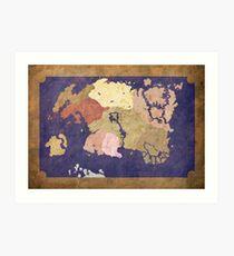Elders scrolls simple map Art Print