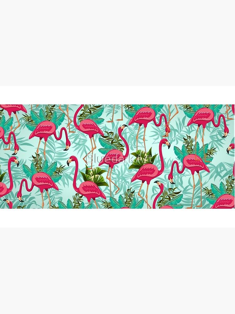 Pink Flamingos Exotic Birds von BluedarkArt