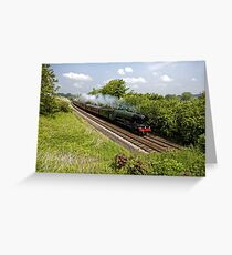 A3 Class 60103 Flying Scotsman Steam Locomotive Greeting Card