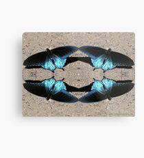Iridescent Blue Dance Metal Print