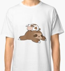 Sloth and Tiny Cow Classic T-Shirt