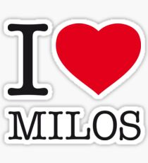 I ♥ MILOS Sticker