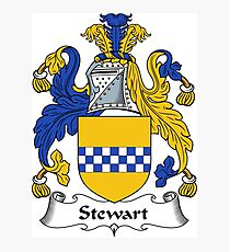 Stewart Coat of Arms / Stewart Family Crest Photographic Print