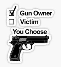 Gun Owner or Victim You Choose Sticker