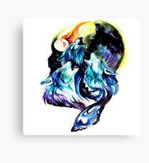 moon wolves Canvas Print