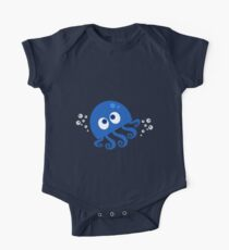 Bubbly Octopus One Piece - Short Sleeve