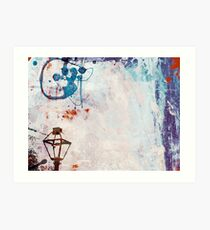 Lamp Post Lost in Paint Art Print