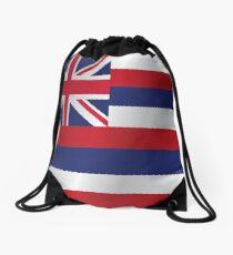 Hawaii flag Drawstring Bag