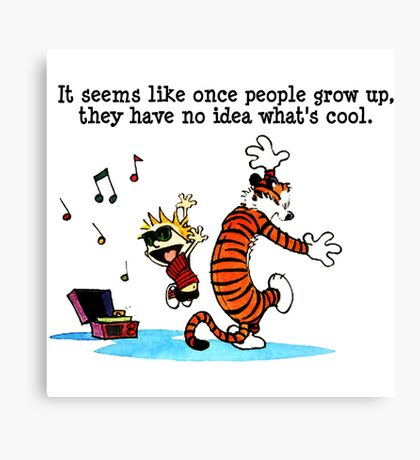Calvin and Hobbes Canvas Print