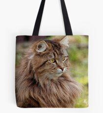Maine Coon Cat Artwork Tote Bag