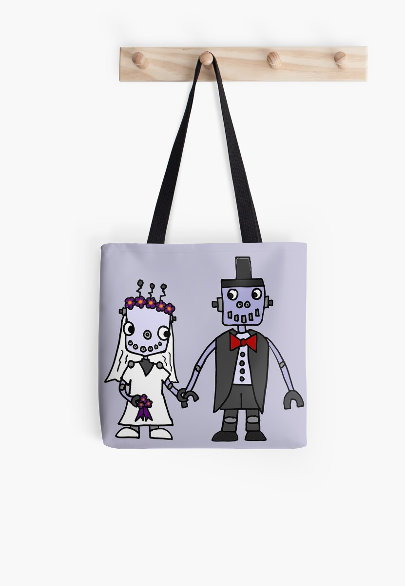 Cool Funky Robot Wedding by naturesfancy