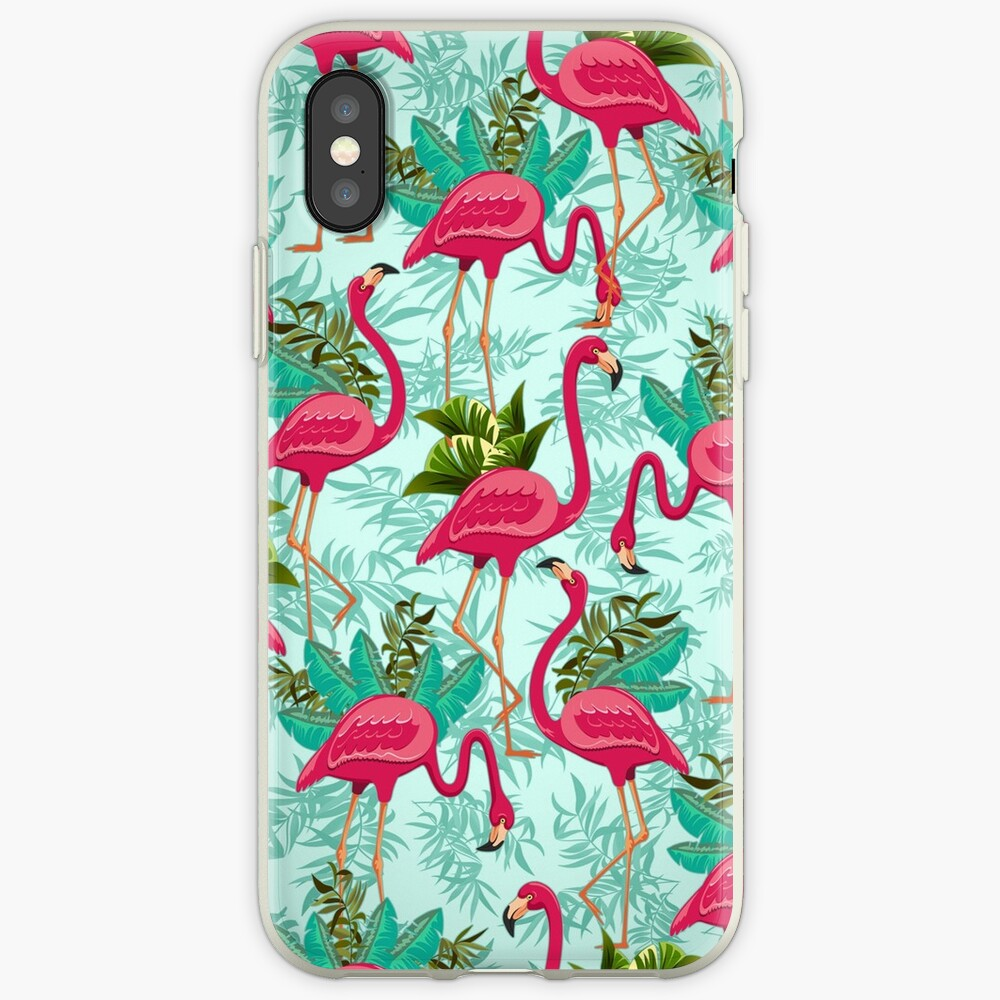 Pink Flamingos Exotic Birds iPhone-Hülle & Cover