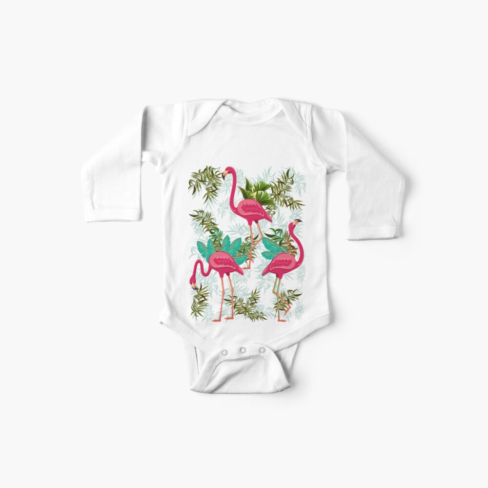 Pink Flamingos Exotic Birds Baby Body