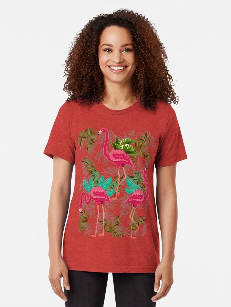 Alternative Ansicht von Pink Flamingos Exotic Birds Vintage T-Shirt