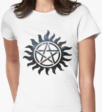Übernatürliche Galaxie Tailliertes T-Shirt für Frauen