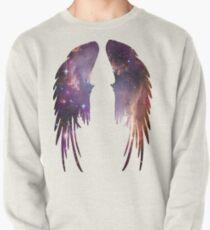 Engels-Rosa-Galaxie-Flügel Sweatshirt