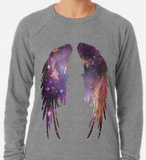 Engels-Rosa-Galaxie-Flügel Leichter Pullover