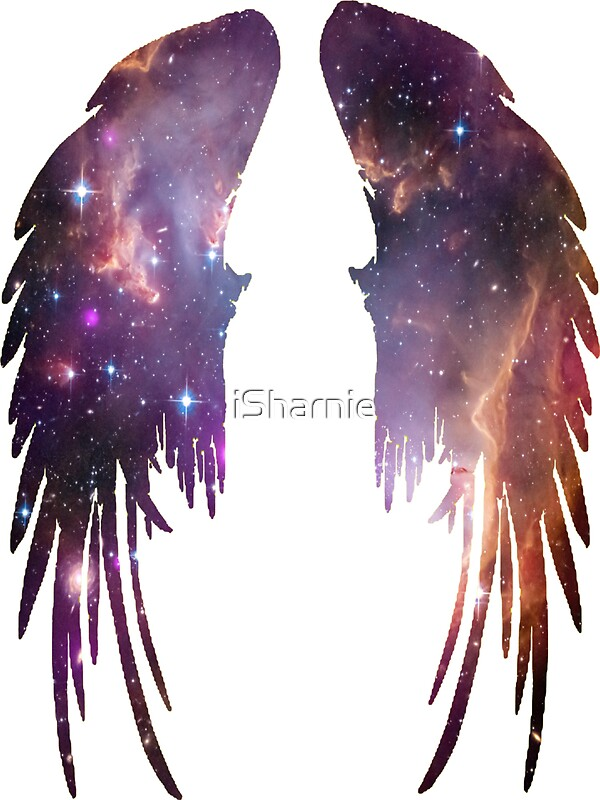 Quot Angel Pink Galaxy Wings Quot Stickers By Isharnie Redbubble