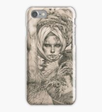 Fairy lady with ermine and birds iPhone Case/Skin