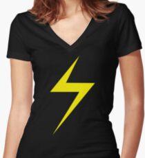 Ms. Marvel Women's Fitted V-Neck T-Shirt