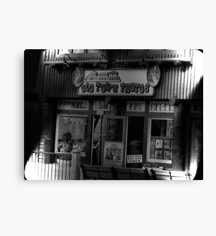 """Gatlinburg, Tennessee, Series, #5... The Old Timey Photo Shop, 5th Picture of Series #5""... prints and products Canvas Print"