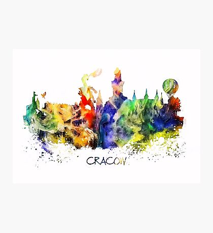 Cracow skyline color Photographic Print